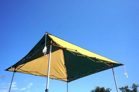 4.テントと張って前が見えない