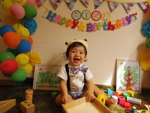 誕生日の子供