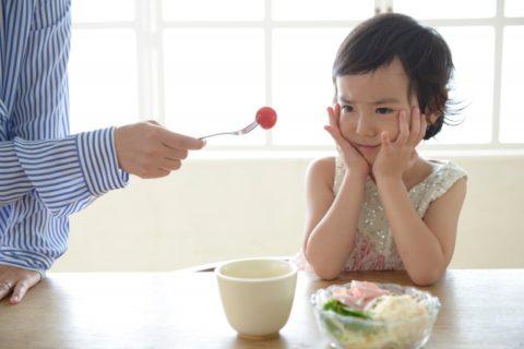 ご飯を嫌がる女の子