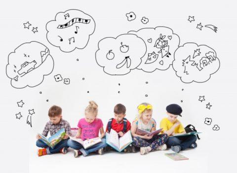 絵本で想像する子供たち